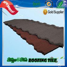 fiberglass spanish roofing tiles Nigeria Hot Sale Villa stone coated steel roofing tile