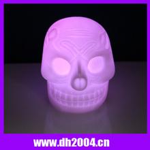 2014 Halloween promotional flashing led skull lights /Skull Heads led mood light