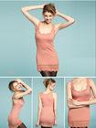 Womens blank sexy long silk tank top dressFor Lady Y157e
