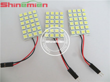 White 24SMD 5050 LED Light Panel BA9S T10 Festoon Car Interior Dome Lights