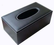 Home & Hotel & Car & Toilets Black Genuine Leather/PU/PU Leather Tissue Box