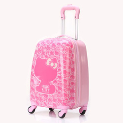 "Cartoon luggage child universal wheels trolley 16"" travel bag luggage handle parts"