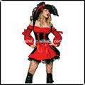 estilo europeo y americano grande rojo sujetador sexy disfraz cleopatra