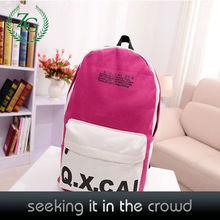 Fashion High School Girls Soft Backpacks , Student School Bags Customized