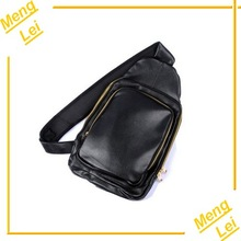 2015 PU leather cycling single strap backpack