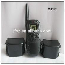 pet collars products beep big lcd collar 100 level shock& vibra 998DR2