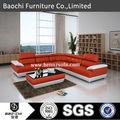 Baochi modern couro branco sofá secional, Mobiliário moderno dallas, Sofá de couro venda C1128-B