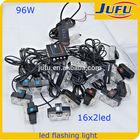 12v car led strobe flash light car front grille net light emergency light for police car