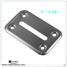 Poker Table Accessory Poker Chip Drop Slot Frame - Stainless Steel
