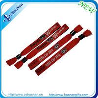 custom festivalfabric wristbands china fashion wholesale high quality wristbands/bracelet with fabric plastic snaps