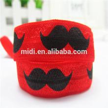 Hot selling printed elastic satin ribbon