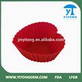 de grado de alimentos populares mini rojo aprobado por la fda de silicona torta decorada con corazones