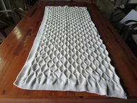50DA85 3D pintuck knit acrylic knit cotton knit throw blanket for bedding,sofa,furniture and outdoor,wedding decoration use