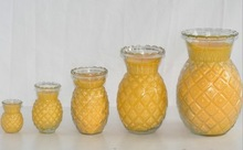 High quality different size pineapple shape candle glass holder
