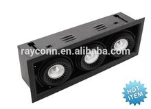 3X9W led cob downlight, adjustable 3 years warranty, cob led grill downlight