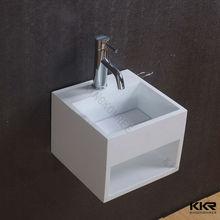 hand made wall hung wash hand basin , stone resin wash basin