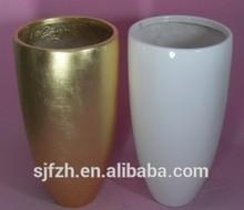 2014 SJ FP38 Wholesale flower pot for wedding decoration big vase fake white flowerpot MgO mini artificial flower pot vase