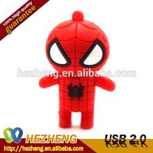 Customized 3D PVC USB Flash Drive 4GB Spider Man USB Pen