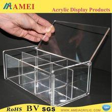 Custom Elegant Acrylic Storage Box recycled brown kraft paper food box