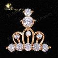 Banhado a ouro micro pavimentar coroa moda jóias pingente, atacado jóias pingente