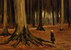 Van gogh oil painting reproduction-Girl in the woods