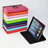 New Products 2014 Rotating Litchi Patttern Leather Tablet Cases for Apple iPad Retina Mini 2