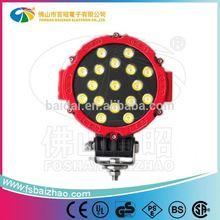 "Hot selling 7"" 51W long range beam led work light for offroad tractor truck head light"