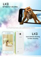 Original new the cheapeat MTK6572 Smart phone 4.0 inch 512m RAM 4GB ROM Android 4.2 13.0MP NFC OTG Mobile Phone Black