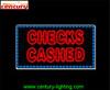 CHECKS CASHED ANIMATED led sign