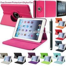 C1410 360 Rotatable Folding Folio Leather Stand Case Cover For Apple iPad 2 3 4 5 mini