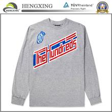 Custom 100% cotton long sleeve couple t-shirt