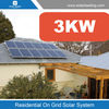 Easy installation 3000w solar system price include 12v solar panel also with 3 phase grid tie inverter