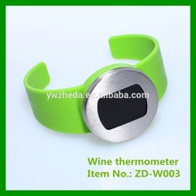 metal surface wine thermometer
