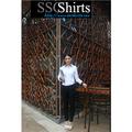 Sscshirts 100% projeto bordado blusa de algodão