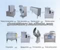 2014 las ventas caliente chips de patata pelado y corte de la máquina automática de chips de patata línea de productos