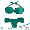 solid dark green fashion brazilian bikini diamond in middle