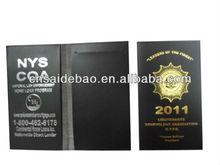 Leather and vinyl handmade passport holder