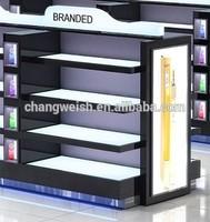 cosmetic light display shelf/mall exclusive display/display shop shelf design