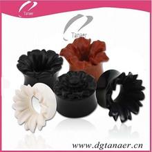 Flower custom beautiful large acrylic expander plug piercing about gift ear flesh tunnel
