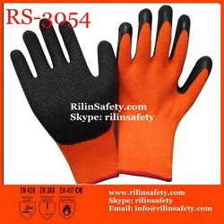 RSSAFETY latex rubber china Work gloves China EN388 EN420