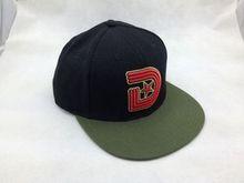Retro Flat bill Snapback Baseball Caps Promotional Big Head Hat Black / olive