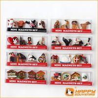 2014 France souvenir fridge magnets miniature birds and cuckoo house custom 3D promotional item