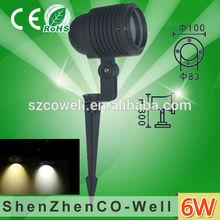 high quality bright low voltage DC12v 6w high power led solar garden light
