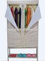 90cm largura doulbe fechos-éclair folding roupeiro tecido/gabinete mais rígida estrutura