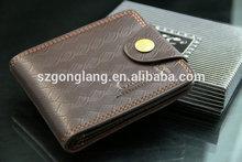 Hombres con estilo de moda de la tarjeta de bolsillo tyvek carpeta de aluminio
