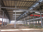 light steel structure mobile store for workshop roofing bracing