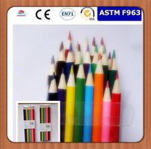 Hotsales 24 pcs color pencil,white Linden wood ,Round ,OEM pencil manfactory with EN71,ASTM-D4236 ,F963