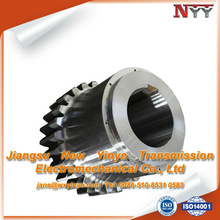 Hardened and carburized sleeve external teeth gear