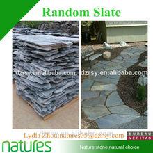 Natural slate tumbled random flagstone walkway
