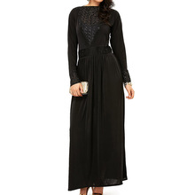 OEM China manufacturer maxi formal black dress wholesale abaya dubai malaysia style shop